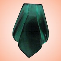 Czech Dress Clip w Green Mirror Finish