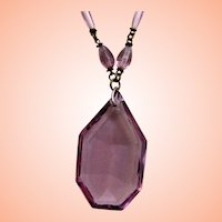 Pretty Amethyst Czech Necklace