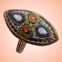 Vintage Mosaic Ring - Size 5