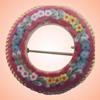 Mosaic Circle Pin