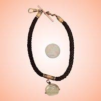 Man's Hair Watch Chain & Fob