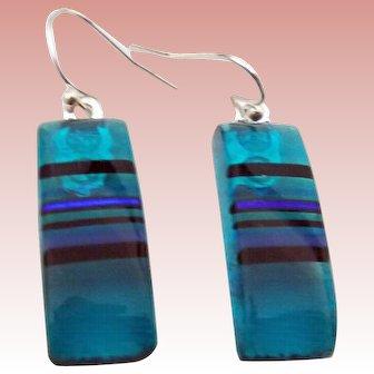 Artisan Fused Glass Earrings