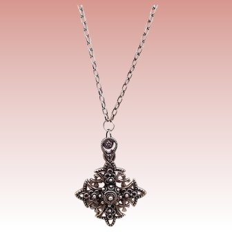 Silver Pendant marked Rusalem Jordan