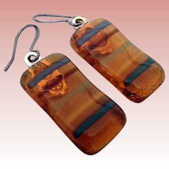 Artisan Fused Glass Earrings