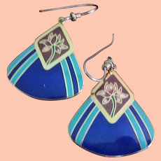 Laurel Burch Earrings in Blue, Red