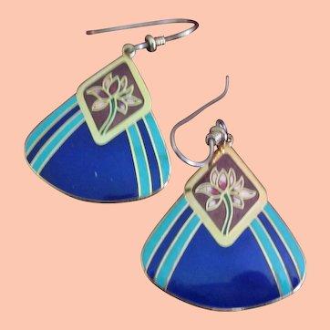Laurel Burch Earrings in Blue, Red
