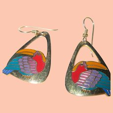 Laurel Burch Toucan Earrings
