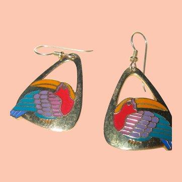 Laurel Burch Toucan Earrings