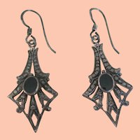 Sterling & Marcasite Art Deco Earrings