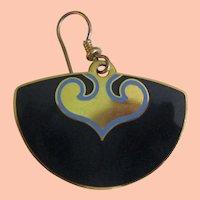 Laurel Burch Blue Earrings - Fans
