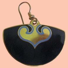 Laurel Burch Blue Earrings - Fans