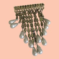 Synthetic Pearl Dangle Pin