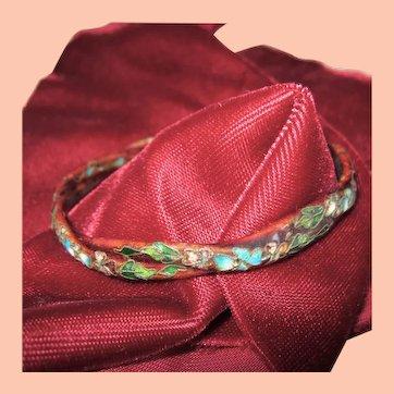 Asia Look Bangle Bracelet w enamel