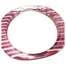 Pink/Purple Strands in Lucite Bracelet