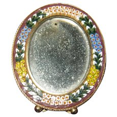 Oval Mosaic Picture Frame-Stand