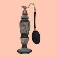 Vintage Art Deco Painted Perfume Atomizer