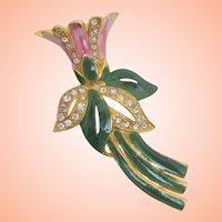 Vintage Coro, Pink Flower