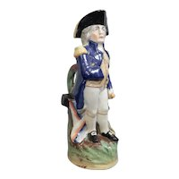 A Large Staffordshire Toby Jug of Admiral Lord Nelson, circa 1870