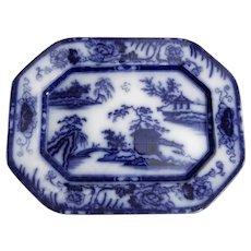 Flow Blue Hong Kong Pattern Platter