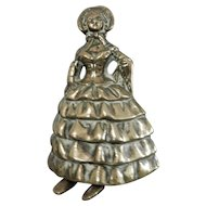 Heavy Cast Brass Lady Bell with Feet Clappers
