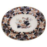 Minton Ironstone Platter in the Hindostan Japan Pattern
