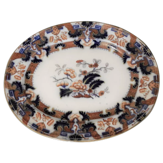 Minton Ironstone Platter in the Hindostan Japan Pattern