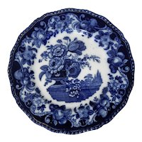 Royal Doulton Flow Blue Plate in the Pomeroy Pattern