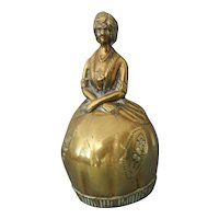 A Large Cast Brass Lady in Victorian Dress