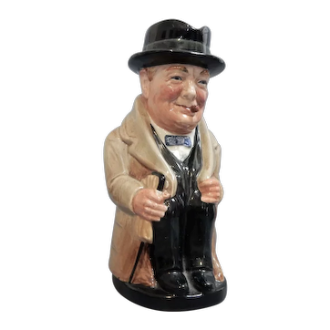 "Large Royal Doulton ""Winston Churchill"" Toby Jug"