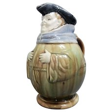 French Faience Toby Jug, 19th Century