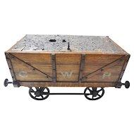 Great Western Railroad Oak Smoker's Box