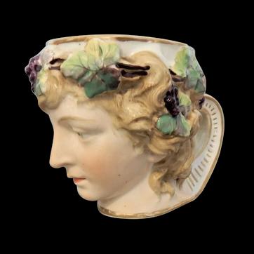 English Porcelain Bacchus Wine Cup