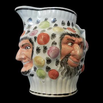 Prattware Pearlware Face Jug, circa 1800