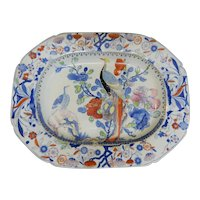 Mason's Ironstone Platter in the Oriental Pheasant Pattern, circa 1820