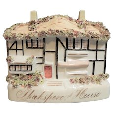Staffordshire Figure of Shakespeare's House, circa 1860