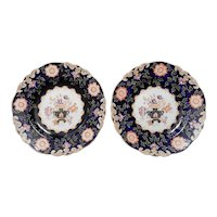 A Pair of Imperial Stone China Plates by John Ridgway, circa 1835