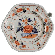 Stone China Warming Plate in Imari Colors by John and William Ridgway, circa 1825
