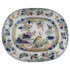 A Beautiful Ironstone Platter in the Tasmania Pattern by Thomas Dimmock, circa 1845