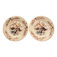 Pair of Derby Porcelain Plates in Imari Colors