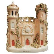 A Very Nice Staffordshire Porcelain Castle, circa 1870