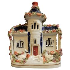 A Staffordshire Cottage/Castle with Swans, circa 1860