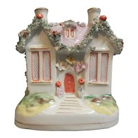 An Adorable Staffordshire Cottage Coin Bank, circa 1870