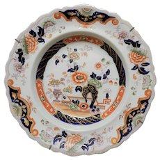 Ironstone Soup Plate in Imari Colors, circa mid 19th century