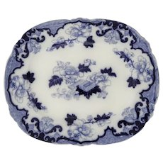 Large Flow Blue Platter in the Candia Pattern by Cauldon, circa 1910