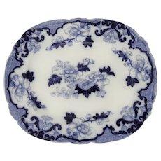 Staffordshire Flow Blue Platter by Cauldon