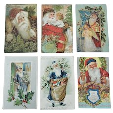 Six Santa Claus Themed Postcards