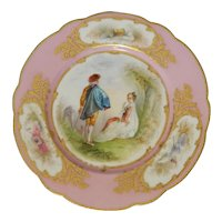 French Hand Decorated Porcelain Cabinet Plate