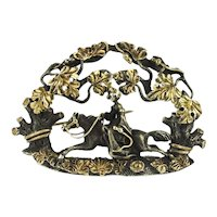 Renaissance Revival Silver and Gold Brooch after Froment Meurice