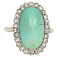 Edwardian Turquoise & Diamond Ring