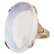 14K Art Nouveau Moonstone Ring